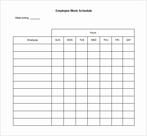 Weekly Work Schedule Template Word Luxury Employee Schedule Template Beepmunk