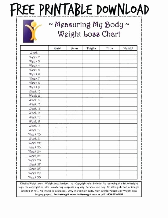 Weight Loss Challenge Chart Template Awesome Weekly Weight Loss Tracking Chart Template Free Printable