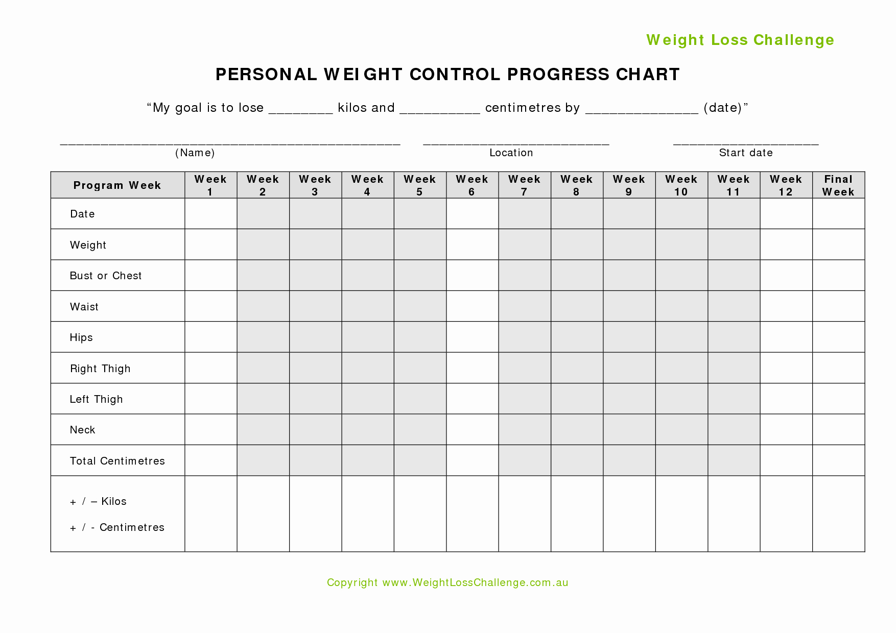 Weight Loss Challenge Chart Template Unique Weight Loss Challenge Chart Google Search