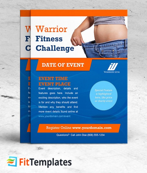 Weight Loss Challenge Flyer Template Beautiful Fitness Challenge Flyer Template Fittemplates Weight Loss