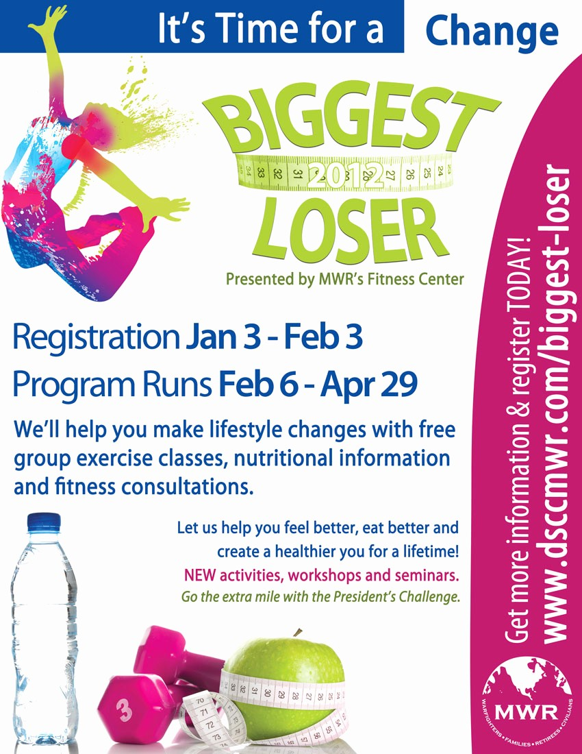 Weight Loss Challenge Flyer Template Elegant 23 Of Biggest Loser Award Template