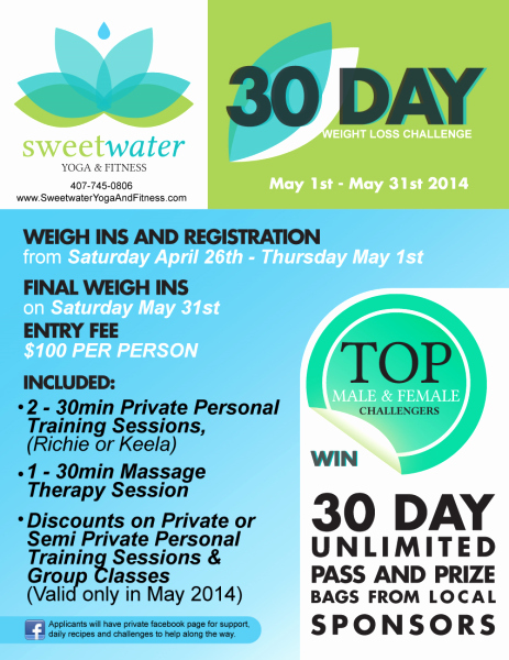 Weight Loss Challenge Flyer Template Elegant 30 Day Weight Loss Challenge May 1st May 31st 2014
