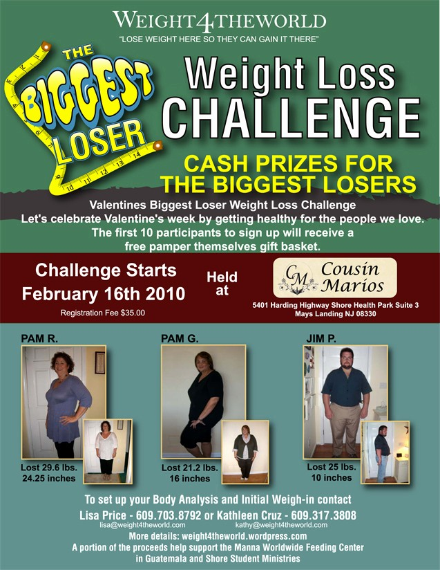 Weight Loss Challenge Flyer Template Elegant Biggest Loser Weight Loss Challenge