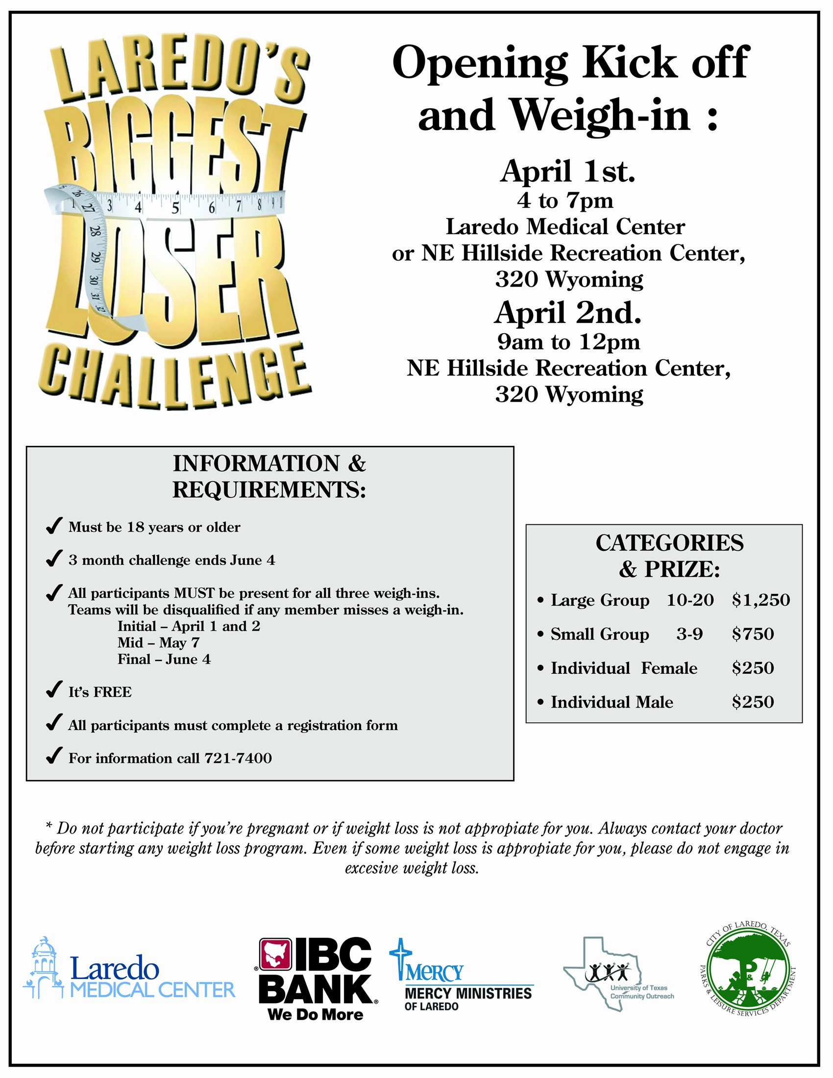 Weight Loss Challenge Flyer Template Fresh Biggest Loser Challenge