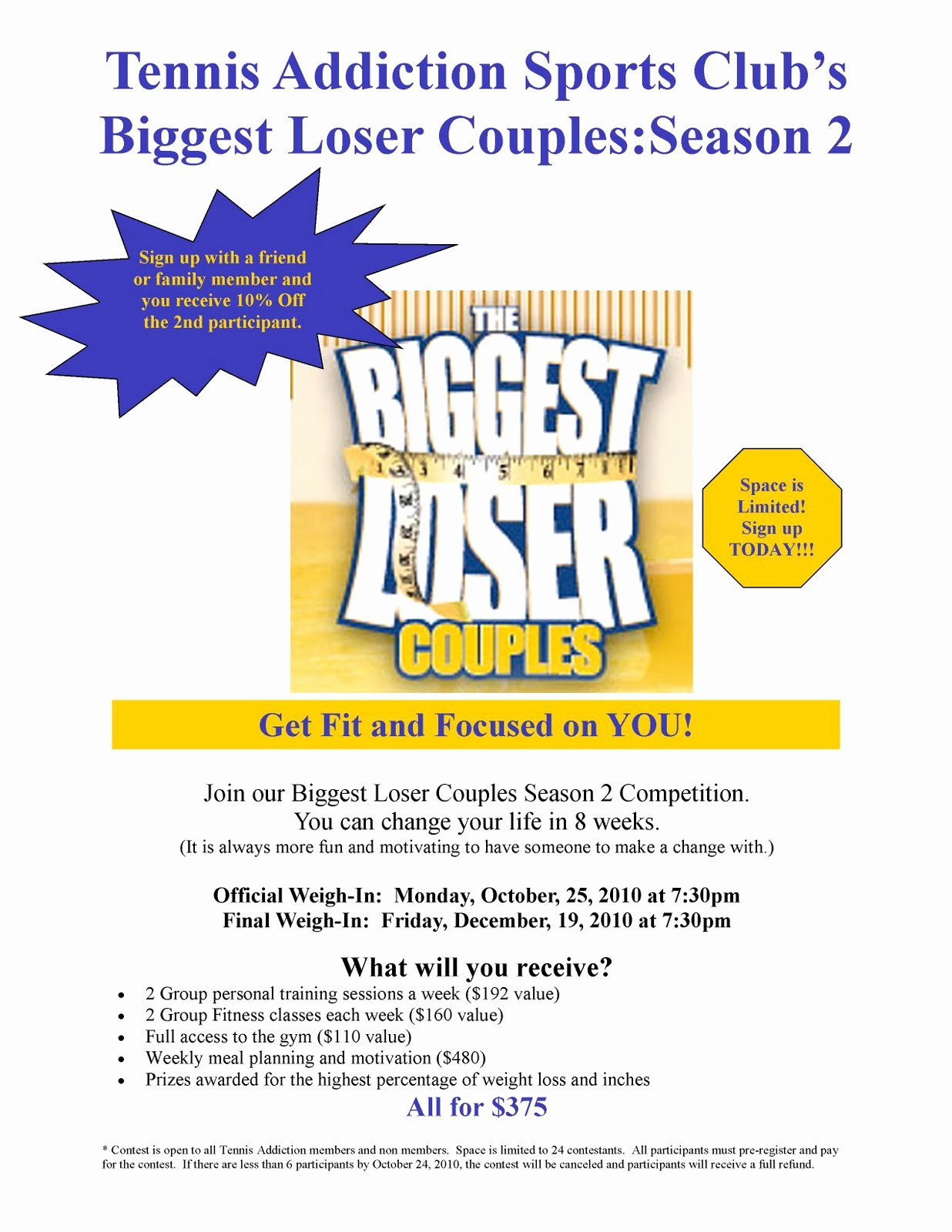 Weight Loss Challenge Flyer Template Inspirational 28 Of Biggest Loser Template