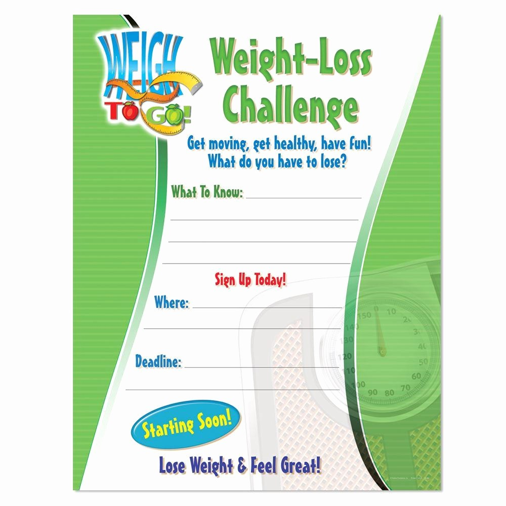 Weight Loss Challenge Flyer Template New Weight Loss Challenge Laminated Poster