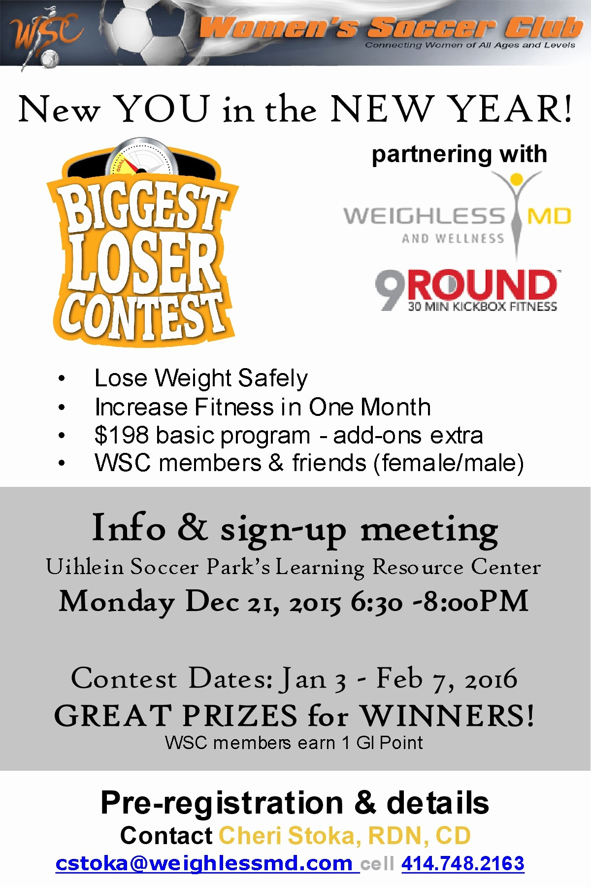 Weight Loss Challenge Flyer Template New Women S soccer Club