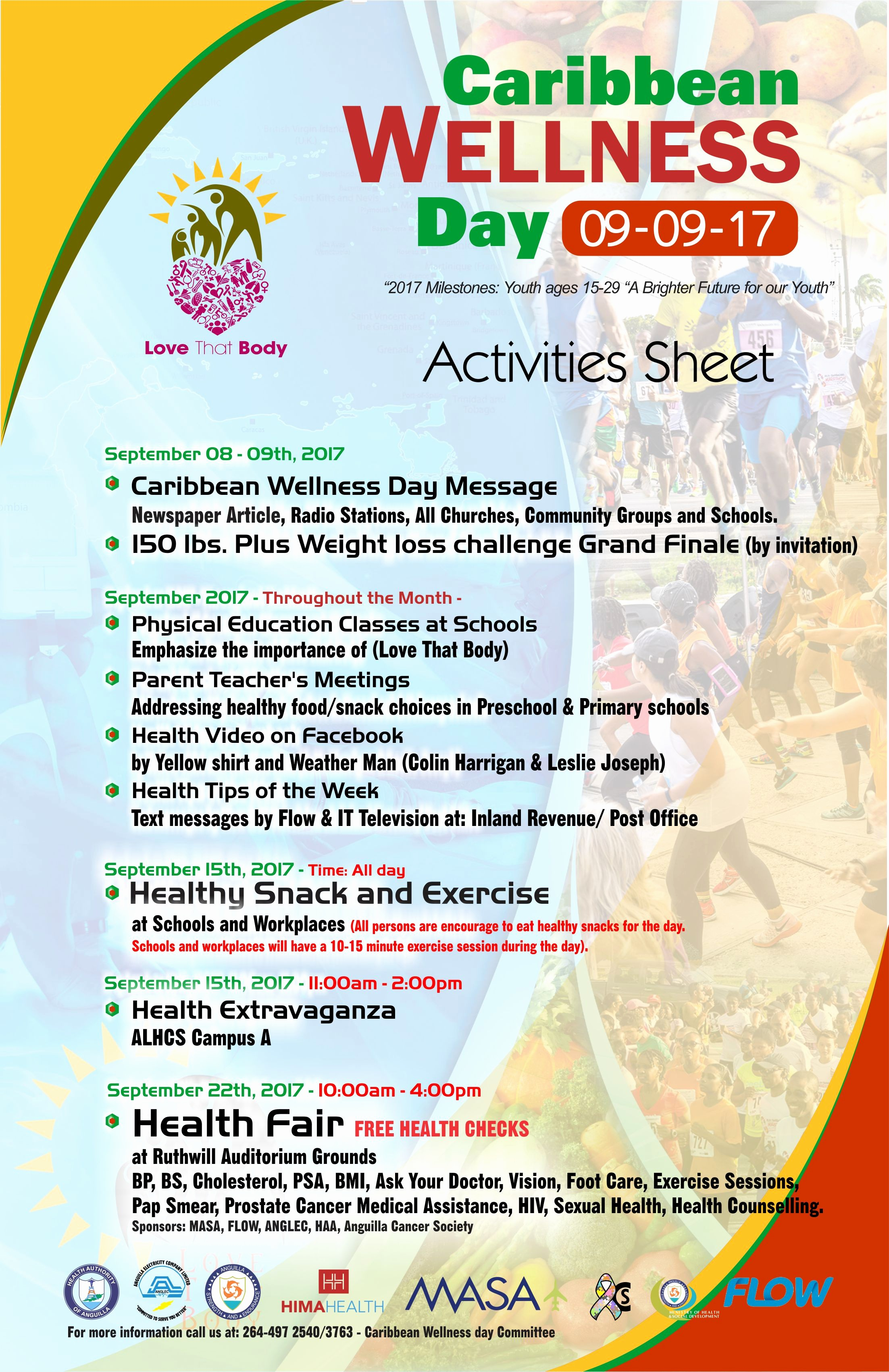 Weight Loss Challenge Flyer Template Unique Caribbean Wellness Day 2017