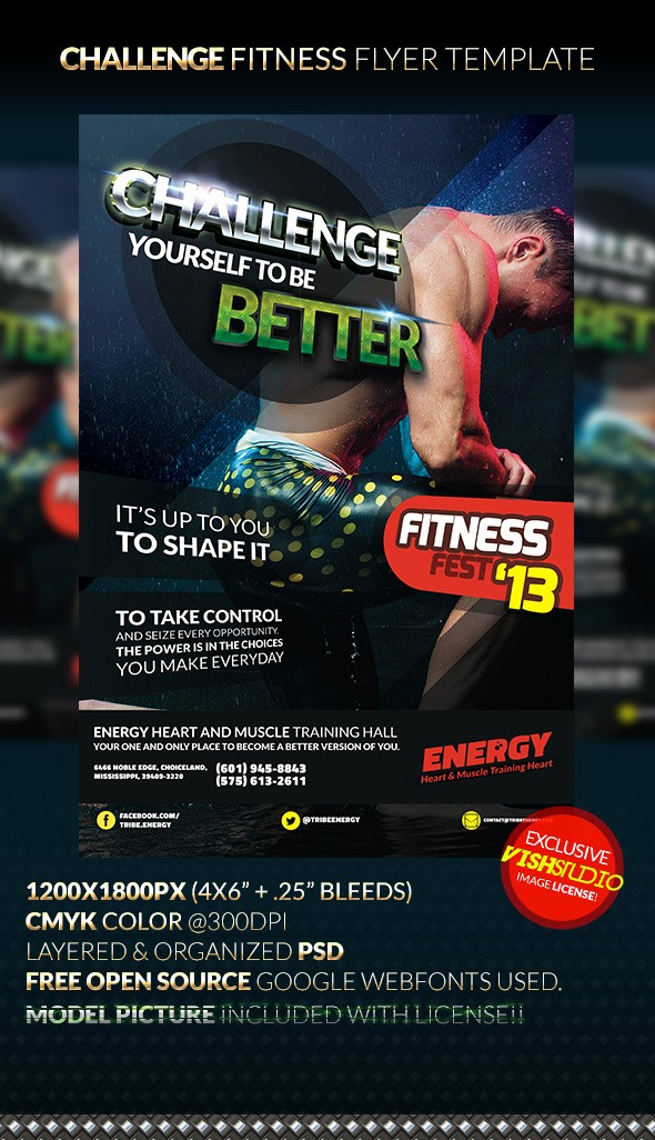 Weight Loss Challenge Flyer Template Unique Challenge Fitness Flyer Template by Anekdamian On Deviantart