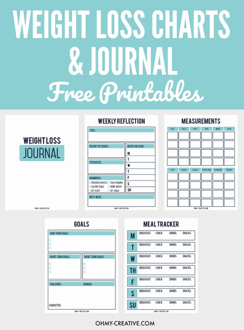 Weight Loss Chart for Women New Printable Weight Loss Chart and Journal for Weight Loss