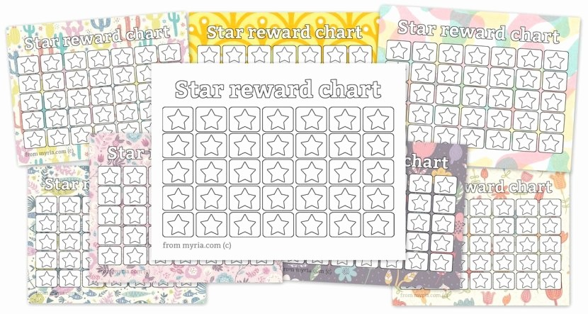 Weight Loss Chart Printable Blank Awesome Printable Reward Charts Fill In the Stars Myria