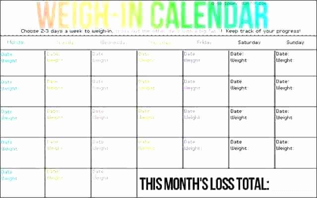 Weight Loss Chart Printable Blank Unique Free Printable Weight Loss Tracker Chart Template Blank