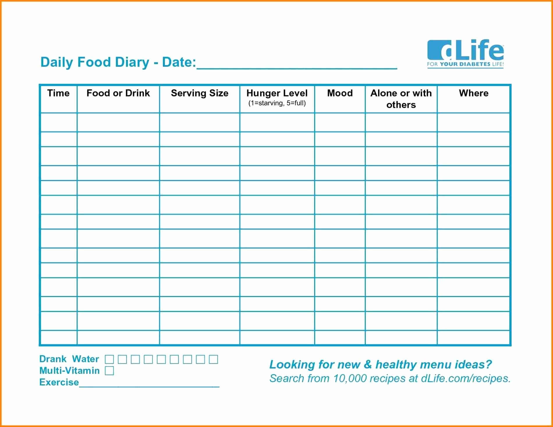 Weight Loss Spreadsheet Google Docs Elegant Blood Sugar Spreadsheet for Printable Food Diary Weight