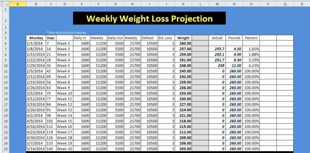 Weight Loss Tracker Excel Spreadsheet Fresh 9 Weight Loss Challenge Spreadsheet Templates Excel