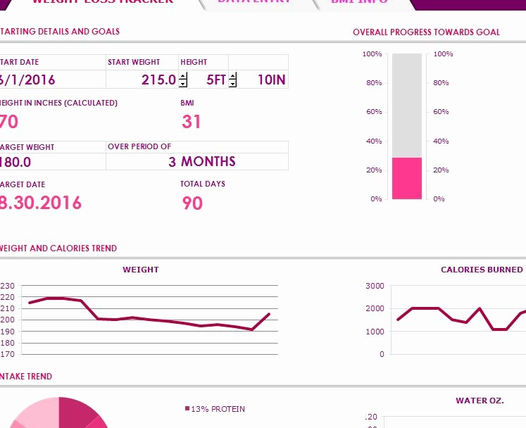 Weight Loss Tracker Excel Spreadsheet New Weight Loss Tracker My Excel Templates