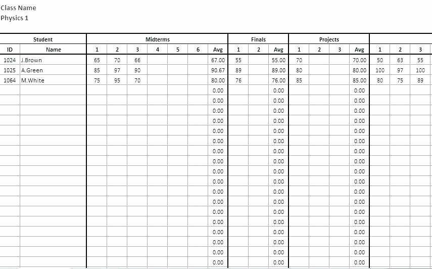 Weighted Grade Calculator Excel Template Elegant Excel Spreadsheet for Grades Create A Column where the