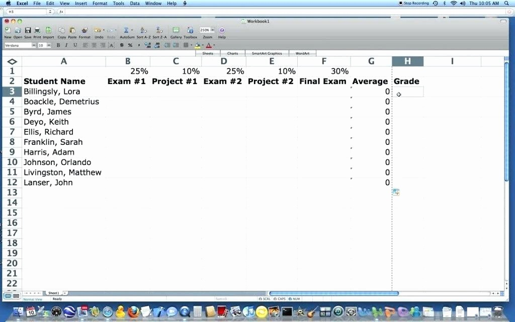Weighted Grade Calculator Excel Template Inspirational Excel Spreadsheet for Grades Create A Column where the