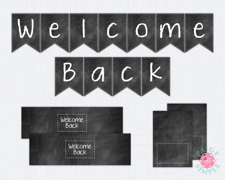 Welcome Back Sign to Print Awesome Freebie Friday More Back to School Printables