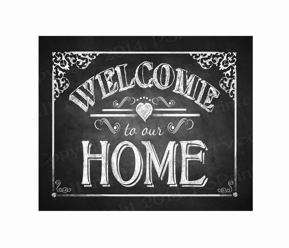 Welcome Back Sign to Print Awesome Printable Wel E to Our Home Chalkboard Sign Diy Instant