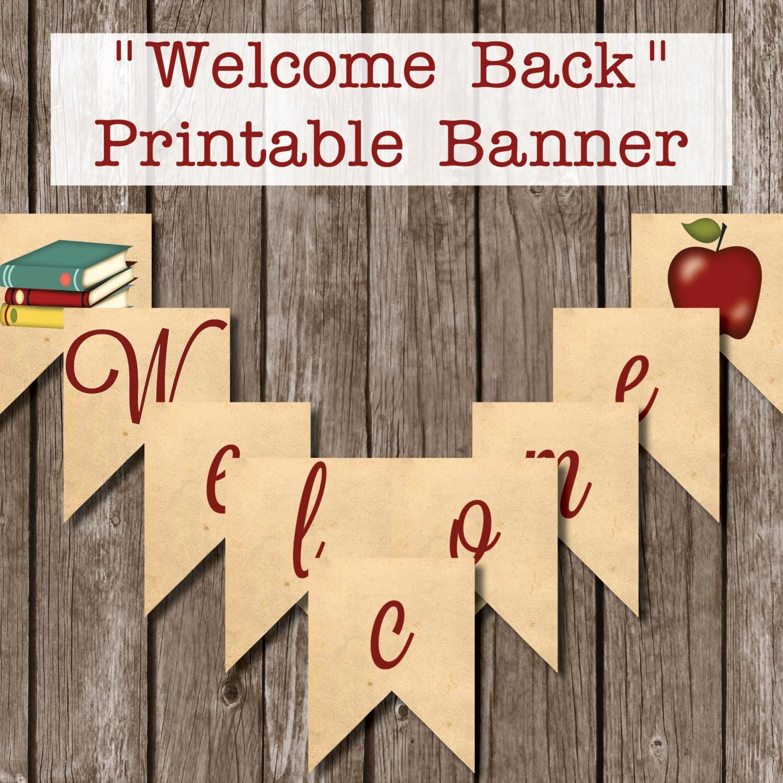 Welcome Back Sign to Print Beautiful Printable Wel E Back Kraft Banner