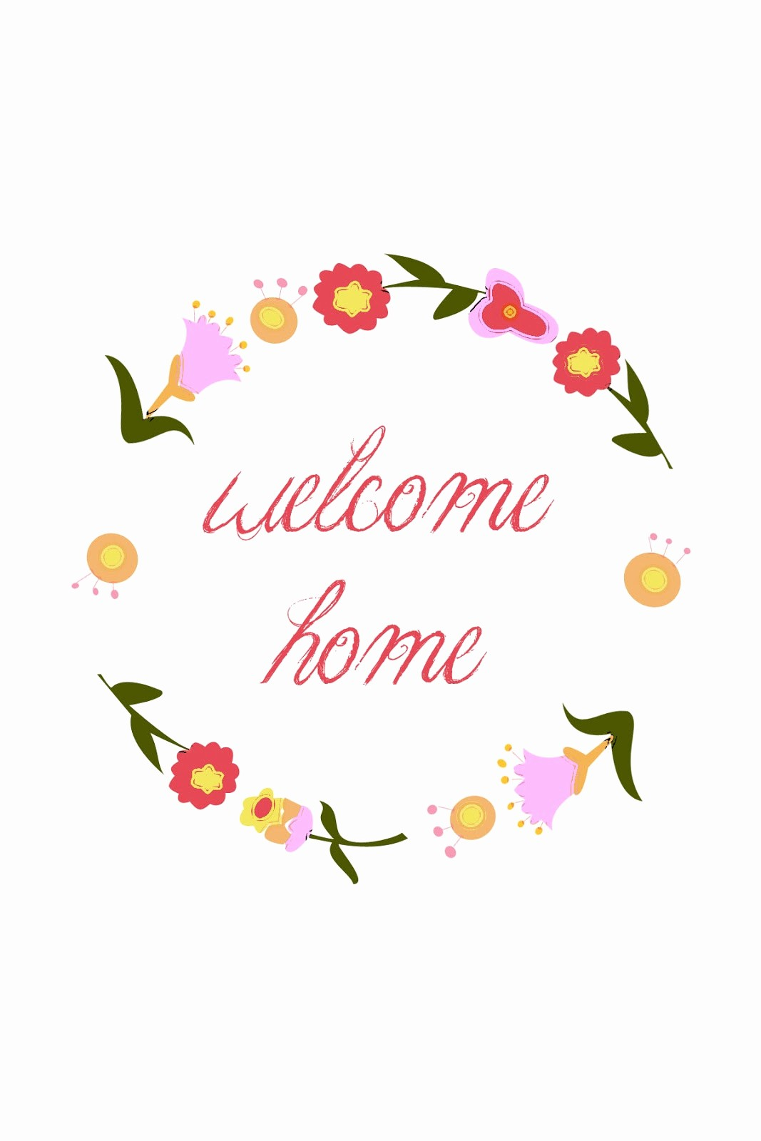 Welcome Back Sign to Print Beautiful Wel E Home Printable Sugar Bee Crafts