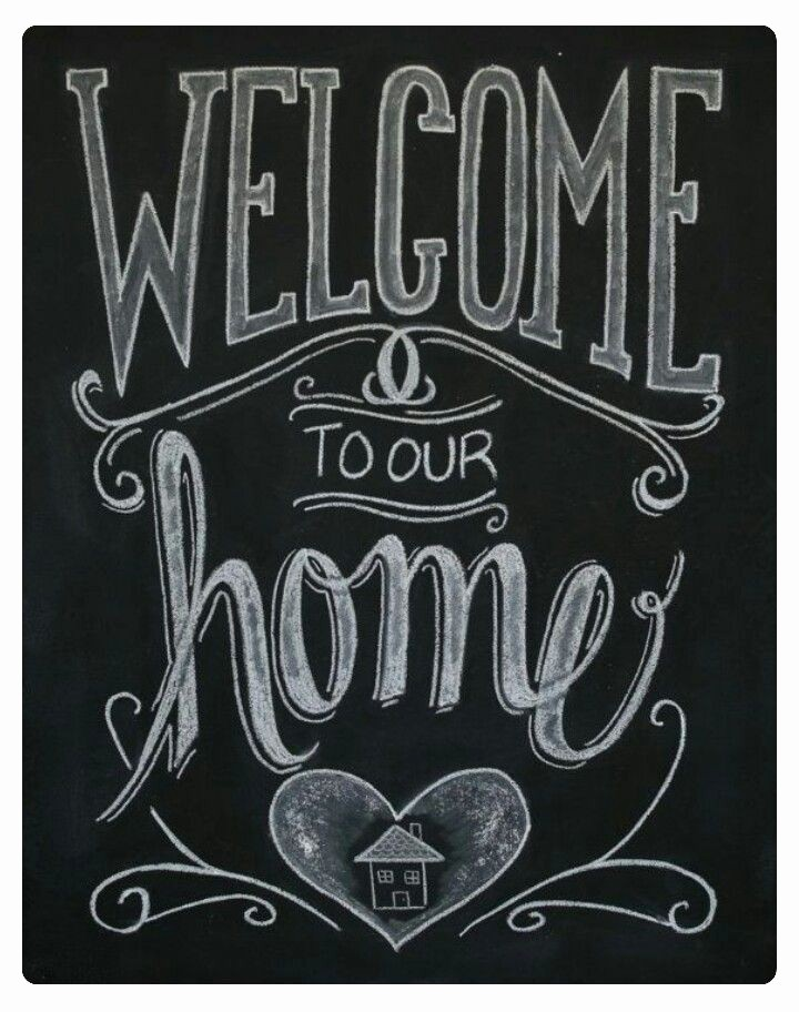 Welcome Back Sign to Print Elegant Wel E to Our Home Chalkboard Art Pinterest