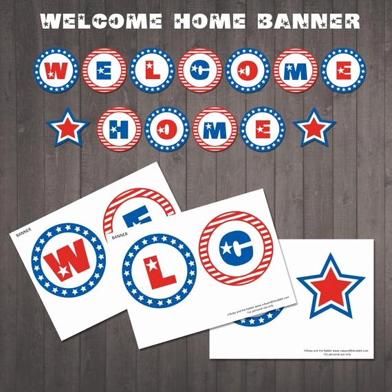 Welcome Back Sign to Print Fresh Instant Download Printable Wel E Home Banner Red White