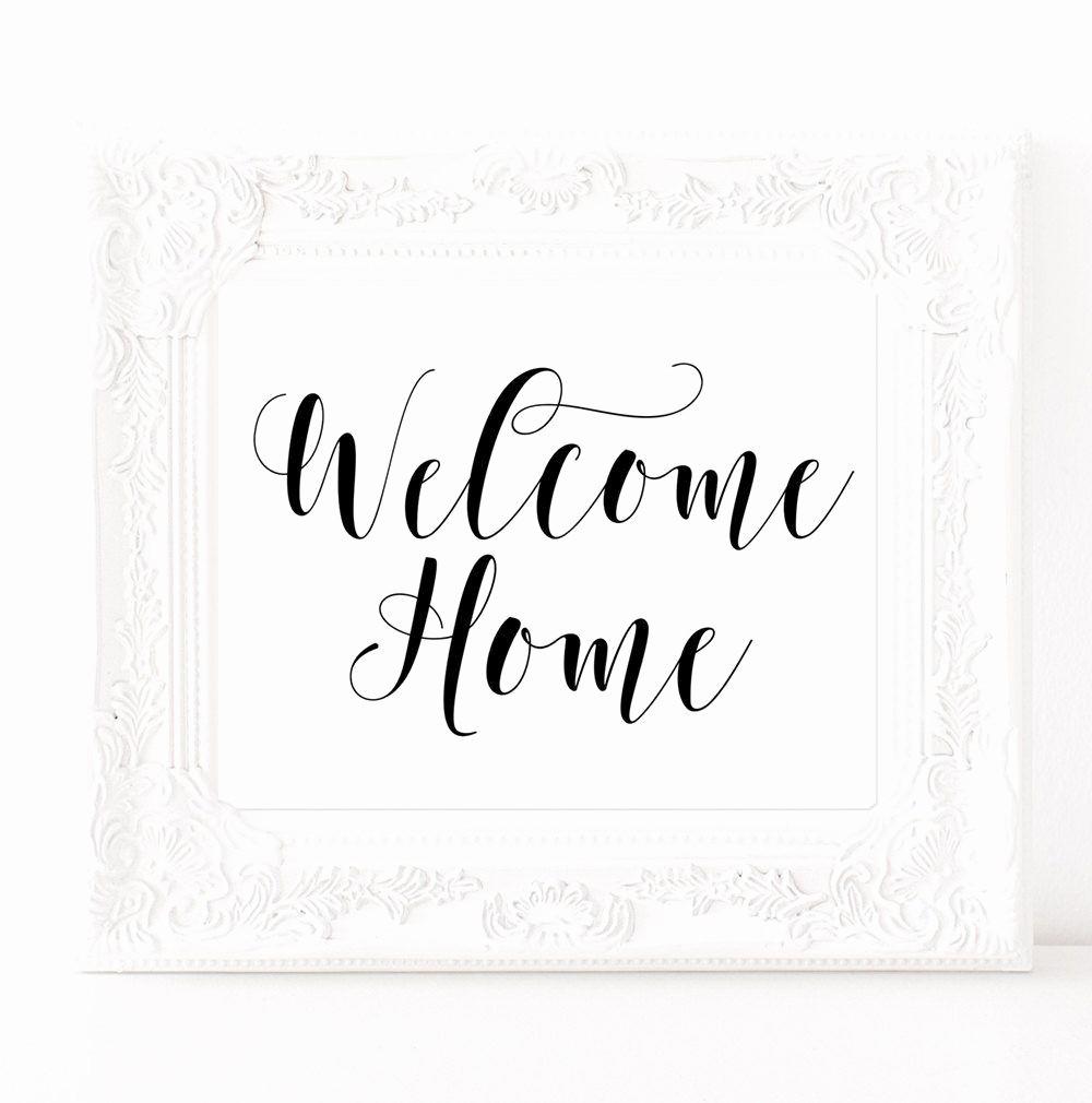Welcome Back Sign to Print Fresh Wel E Home Sign Printable Art Prints New Home Decor