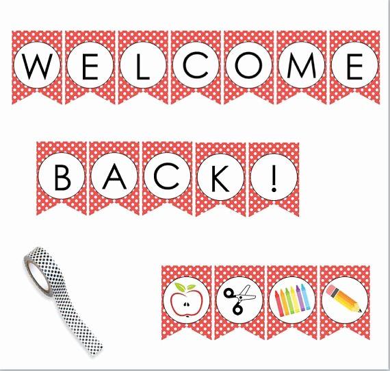 Welcome Back Sign to Print Lovely Best 25 Wel E Back Banner Ideas On Pinterest