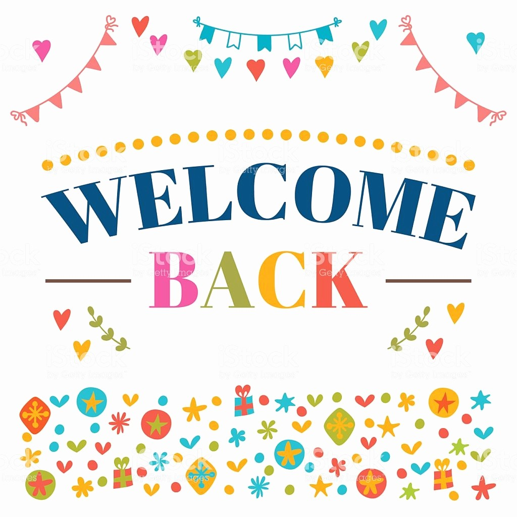 Welcome Back Sign to Print Lovely Old Portena