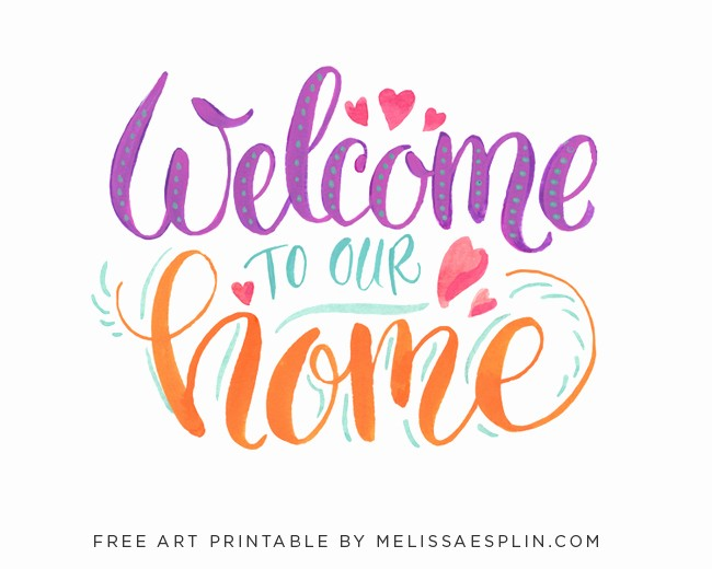 Welcome Back Sign to Print Luxury 7 Best Of Wel E Home Signs Printable Wel E