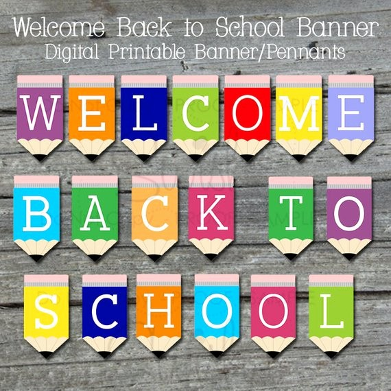 Welcome Back Sign to Print New Wel E Back Printable Banner Back to School Sign Teacher