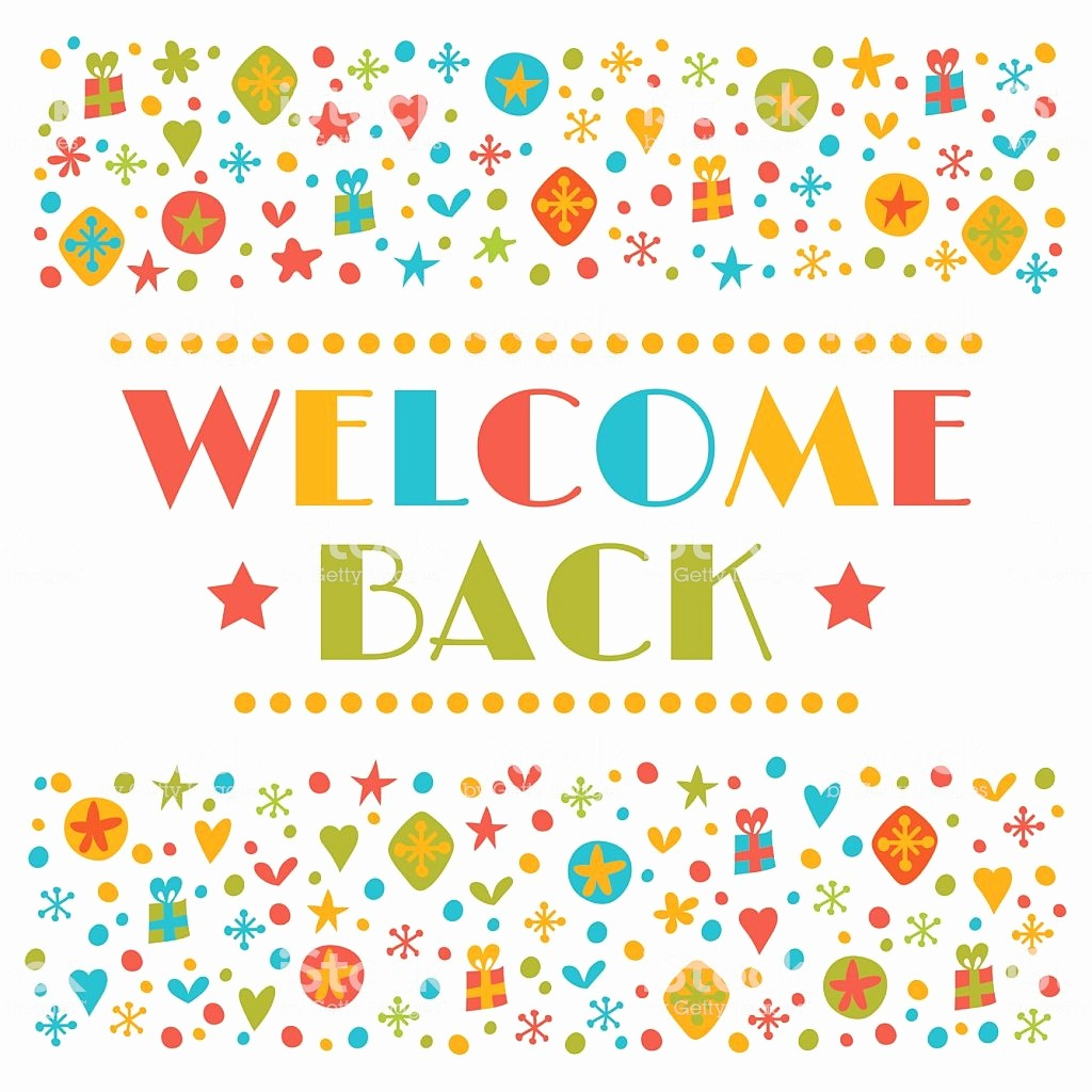 Welcome Back to Work Signs Elegant Wel E Back Text with Colorful Design Elements Greeting