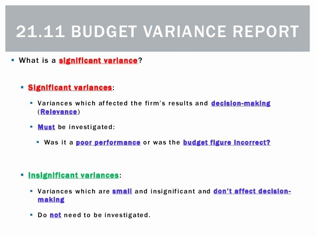 What is A Budget Report New 21 11 Bud Variance Report
