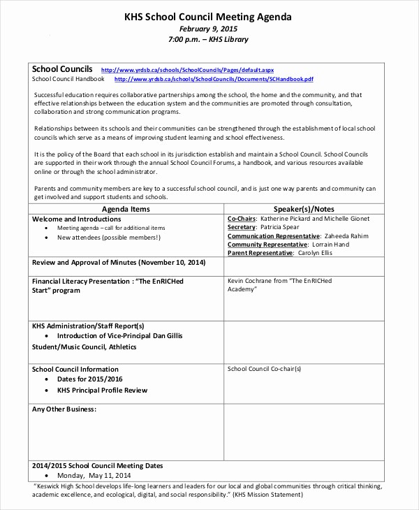 What is A Business Agenda Lovely 7 Staff Meeting Agenda Examples Samples