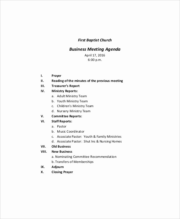 What is A Business Agenda New 10 Business Meeting Agenda Templates – Free Sample