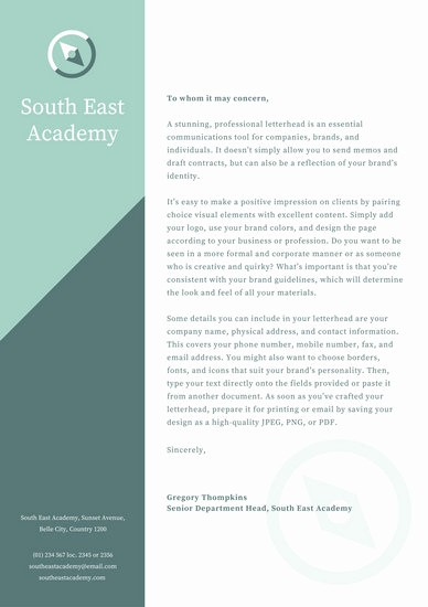 What is A Business Letterhead Awesome Customize 960 Letterhead Templates Online Canva
