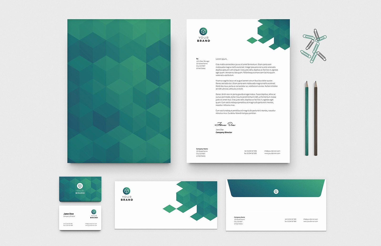 What is A Business Letterhead Awesome Free Business Card & Letterhead Templates — Medialoot