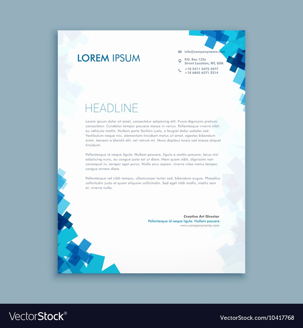 What is A Business Letterhead Best Of Business Style Corporate Letterhead Design Vector Image