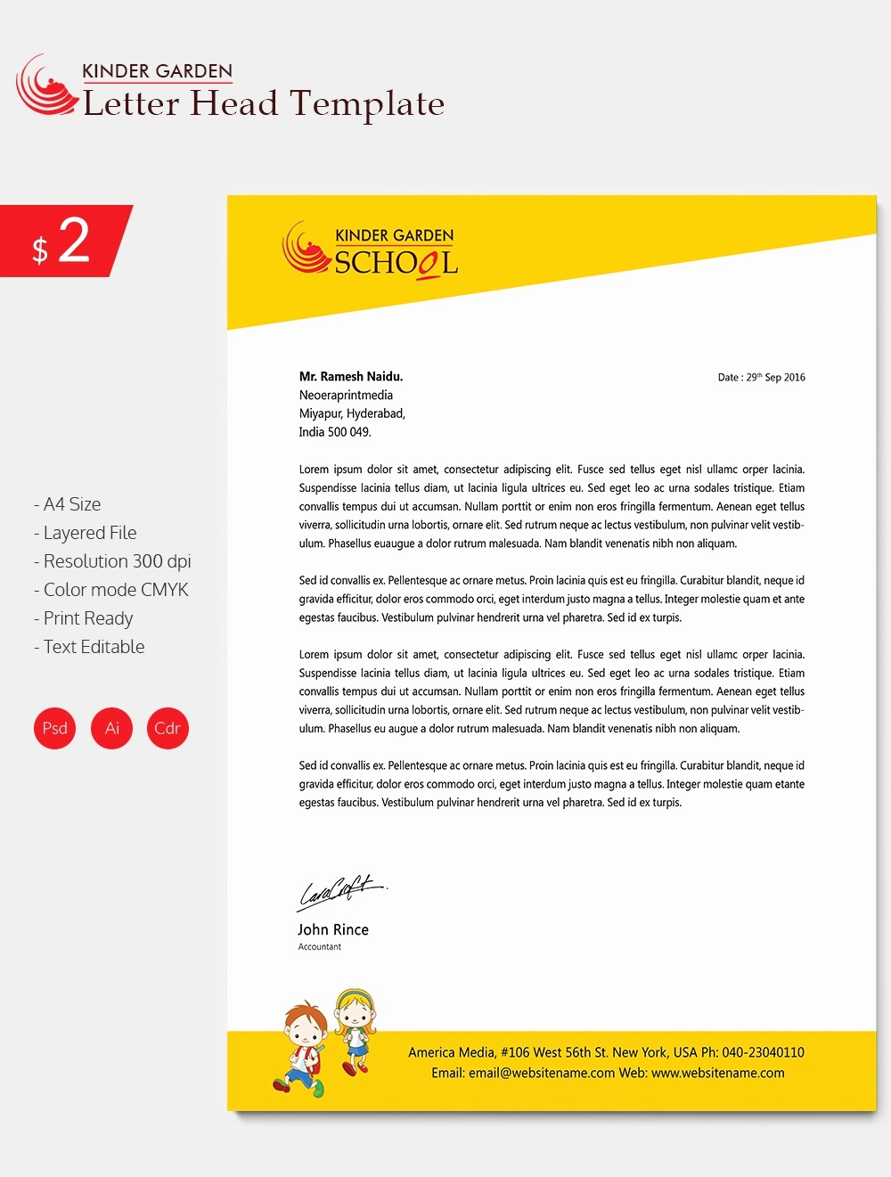What is A Business Letterhead Elegant 22 Letterhead Design Templates Free Sample Example