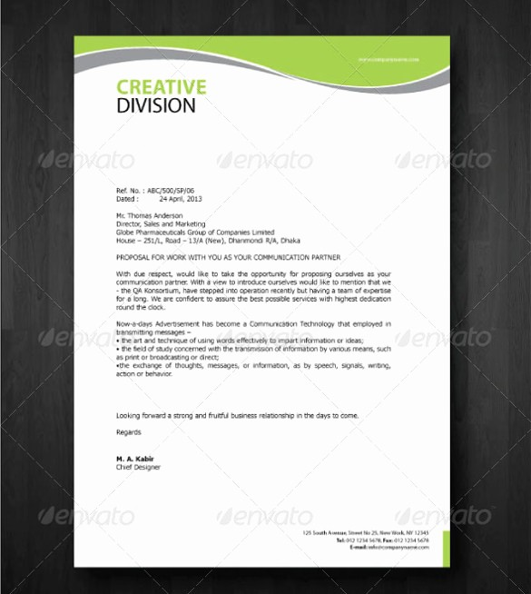 What is A Business Letterhead Unique 23 Pany Letterhead Templates