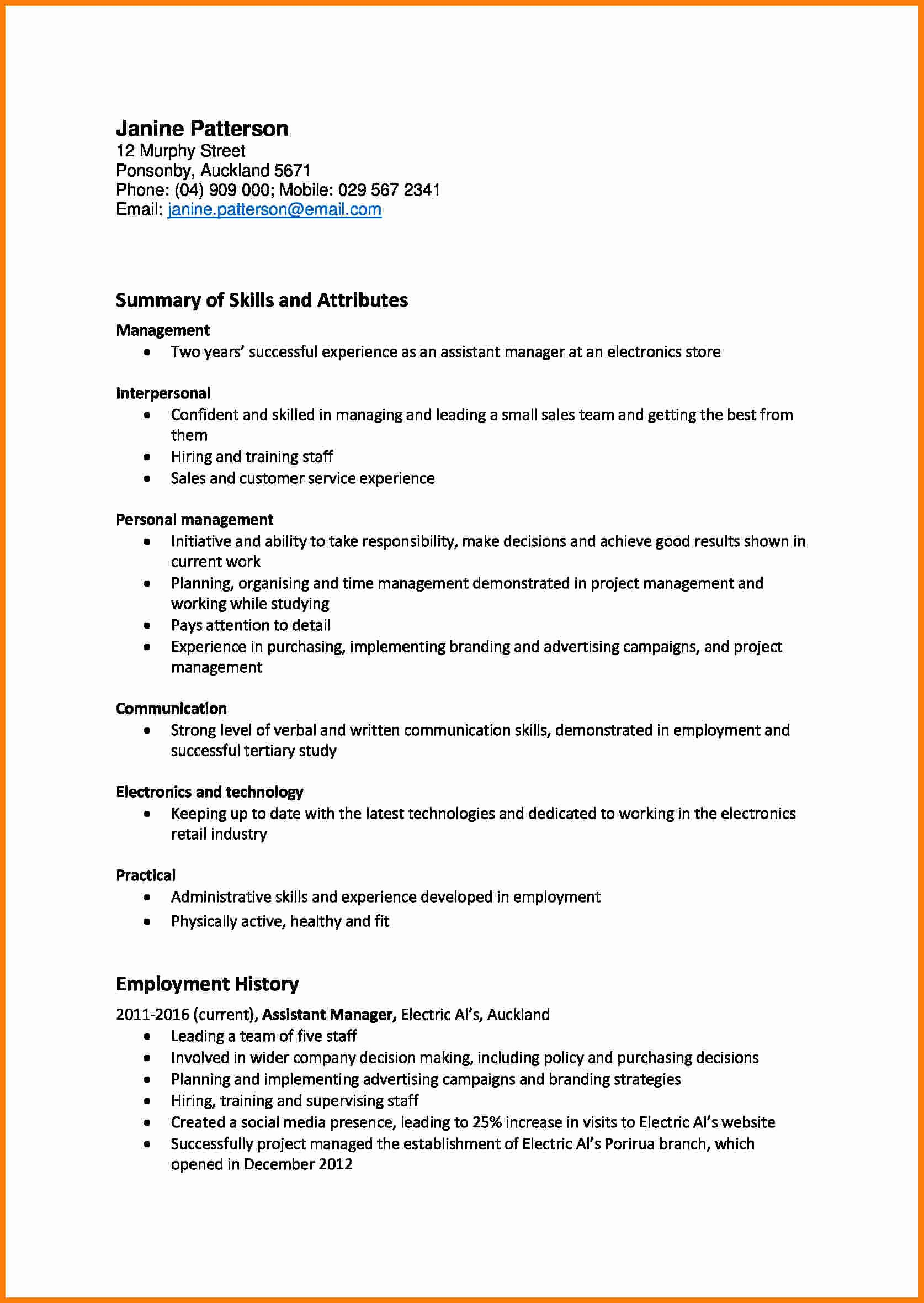 What is A Cv Letter Awesome 7 Cv It Skills Example