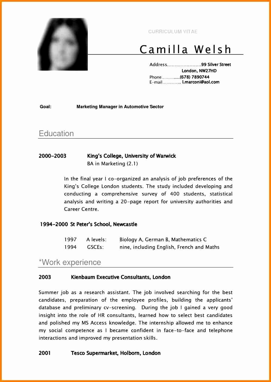 What is A Cv Letter Awesome 8 English Cv Sample