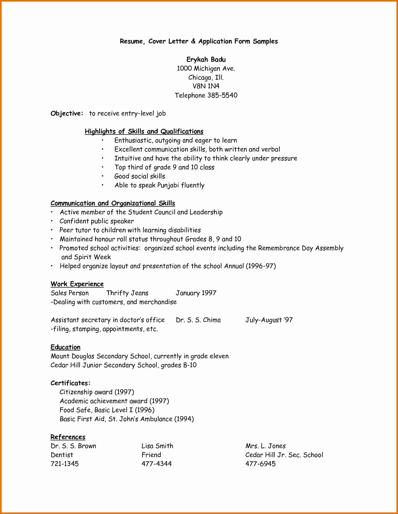What is A Cv Letter Awesome Sample Of Application Letter and Resumereference Letters