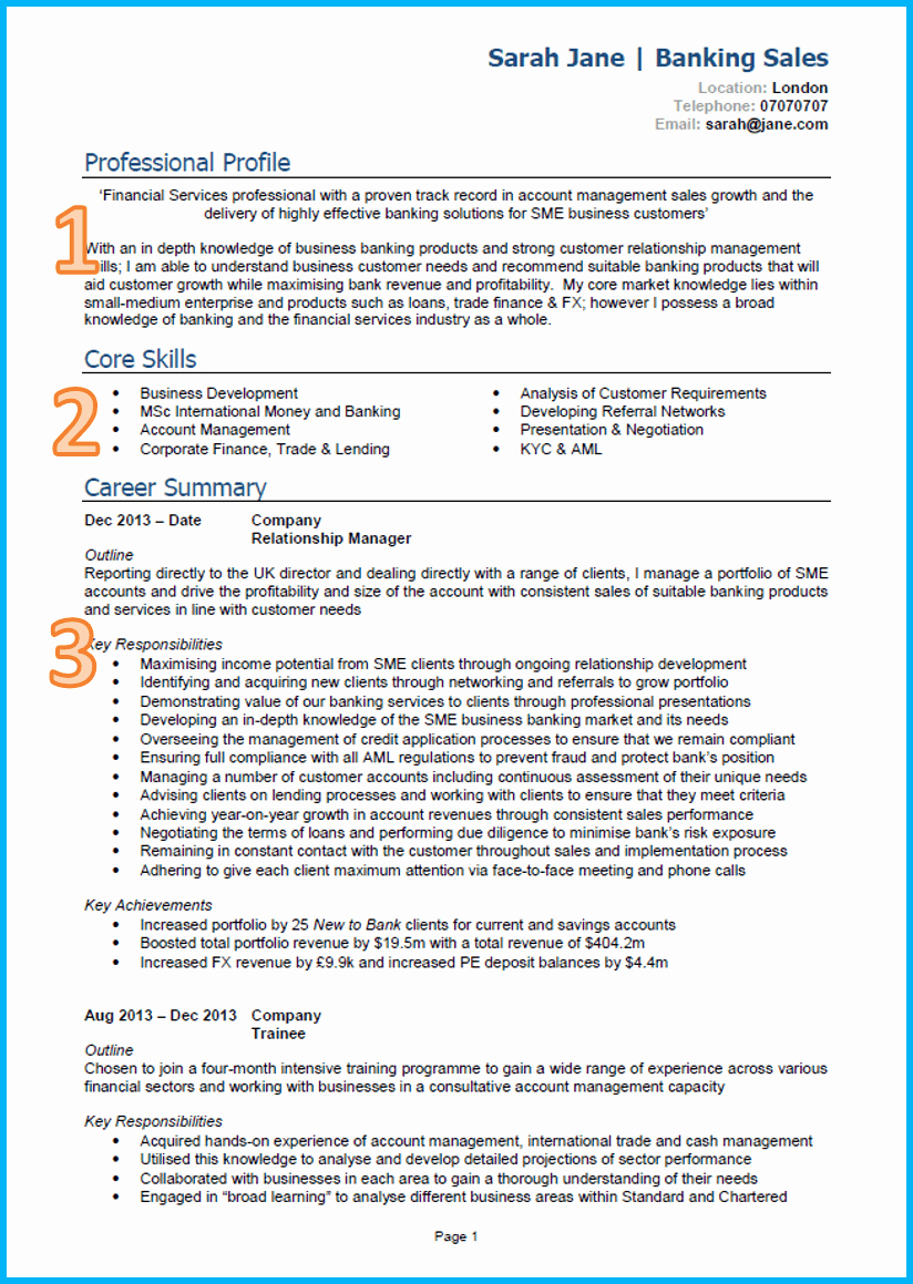 What is A Cv Letter Best Of Example Of A Good Cv