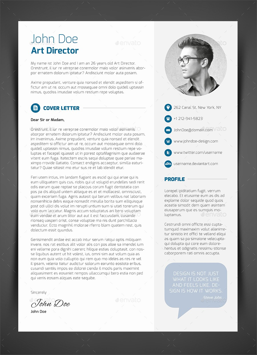 What is A Cv Letter Fresh 3 Piece Resume Cv Cover Letter by Bullero