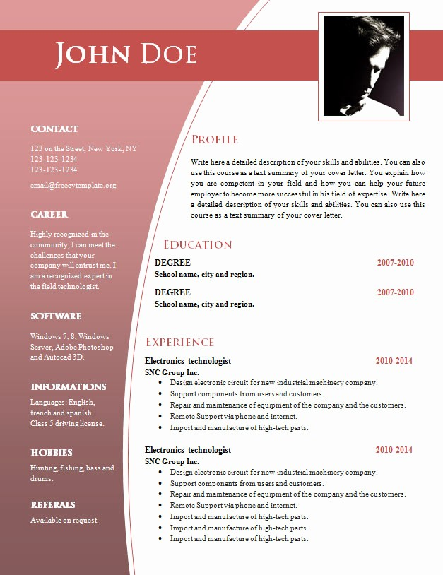 What is A Cv Word Elegant Cv Templates for Word Doc 632 – 638 – Free Cv Template