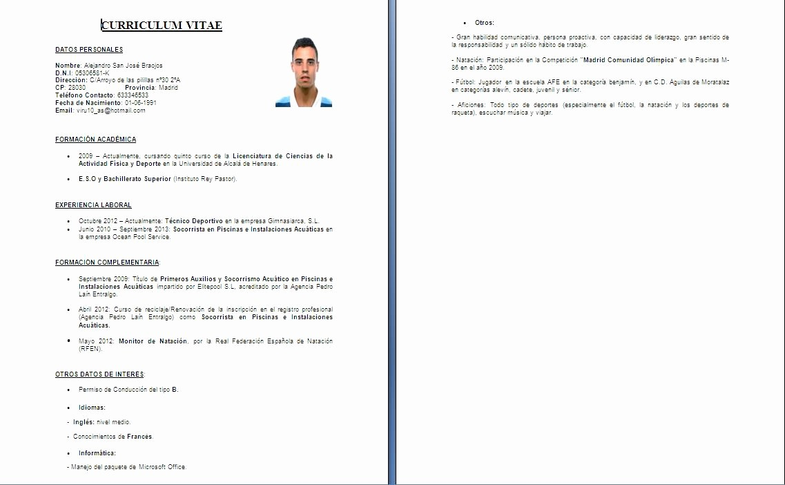 What is A Cv Word Lovely Curriculum Vitae formatos E Dicas