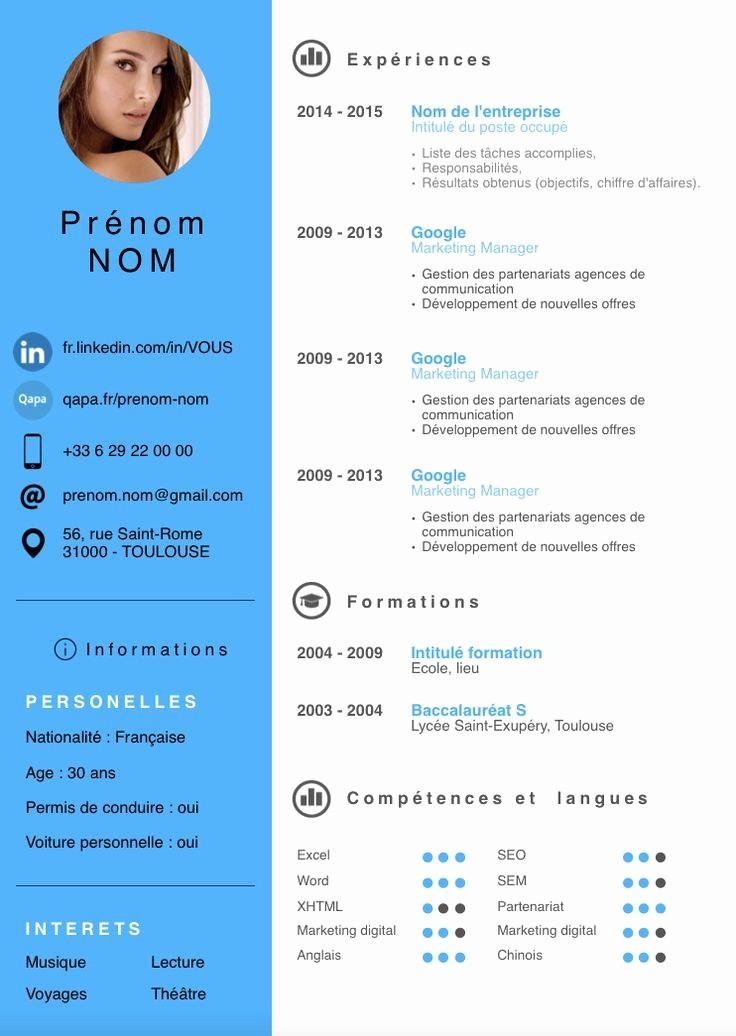 What is A Cv Word New Exemple Cv Moderne 2015 Bewerbung Pinterest