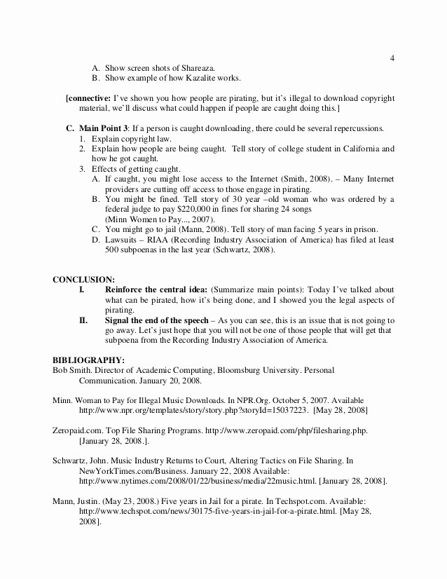 What is A Speaking Outline Awesome Preparation Outline Handout 2014 Public Speaking